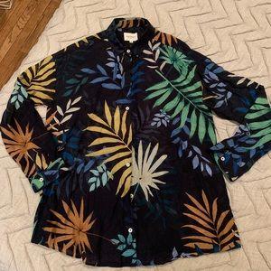 Sezane EDOUARD SHIRT Size 4/36 Blue Jungle Print